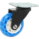 Translucent Skate Wheel Casters, Non-Locking