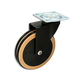 Designer Wooden Casters with Black Wheel, Beech
