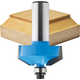 Rockler 30° Chamfer Bead Profile Router Bit - 1-1/4