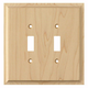 Contemporary Style Double Light Switch Cover