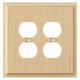 Contemporary Style Quad Outlet Cover