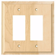 Contemporary Style Double Toggle Light Switch Cover
