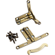 Solid Brass Quadrant Hinges, Pair