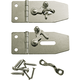 Jewelry Box Hasp with Swing Latches, Pair
