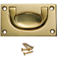 "Solid Brass 2-1/2""W x 1-1/2""H Recessed Pulls"