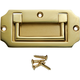 """Solid Brass 3-9/16""""W x 1-3/4""""H Recessed Pulls"""