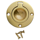 "Solid Brass 1-3/4"" Round Recessed Ring Pulls"