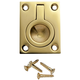 "Solid Brass 1-1/2""W x 2""H Rectangular Recessed Ring Pulls"