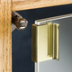 No Bore Glass Door Pull-Choose finish