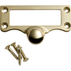 Solid Cast Brass Card Holders-Card holder with pull