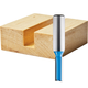 Rockler Straight, 2-Flute Router Bits - 1/4