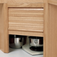 Hardwood Appliance Garage with Tambour Door Kit - Corner