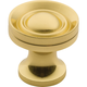 Solid Brass Classic Knob, 5/8''