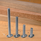 T-Slot Bolts, Pack of Five-1/4