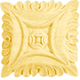 Bendix Hand Carved Square Rosettes-Maple