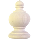 Bendix Traditional Half Finials-Red Oak