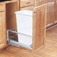 Single  Aluminum Pullout Waste Containers, Rev-a-Shelf 5349 Series