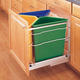 Pullout Quad Aluminum Recycle Center, Rev-a-Shelf 5349-9WM Series-Complete Pullout Recycling System