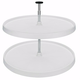 Rev-A-Shelf Full Circle Two Shelf Lazy Susan Set (3072 Series)-White Shelf Sets
