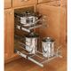 Cabinet Pullout Double Tier Wire Baskets, Rev-a-Shelf 5WB Series-Double Tier 18