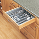 Kitchen Drawer Organizers, Rev-a-Shelf CT and GCT Series-Metallic Silver Finish