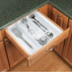 Kitchen Drawer Utensil Organizer Inserts, Rev-a-Shelf UT Series-Textured White Finish