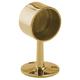 Short Rail End Post-Polished Brass