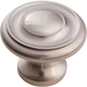 Satin Nickel 1-1/4'' Crown Top Knob