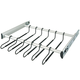 Hafele Pull-Out Pants Racks, Full-Extension-Matte Nickel