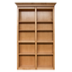 InvisiDoor Bi-Fold Bookcase Shelving Unit Kit - Oak