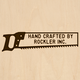 Custom Branding Iron with Two Line Handsaw Design - Standard Head