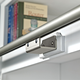 Rockler Classic Rolling Library Ladder - Track Hardware, Satin Nickel