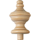 3-1/4'' x 1-1/2'' Birch Turned Finial