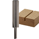 Freud® Single Flute Straight Router Bits - 1/4