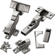Blum® 110° Free Swinging Frameless Clip Top Inset Hinges, Pair