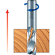 Freud® Up-Spiral Router Bits - 1/4