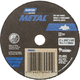 Norton® Metal™ Straight Reinforced Cut-Off Wheel, 3'' Dia. x 0.035'' Thick x 3/8'' Hole
