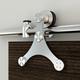 Rolling Barn Door Hardware Kit, Stainless Steel, Tristar