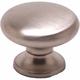 Berenson Valencia Knob, Round, 7006-1BPN-C - Brushed Nickel Finish