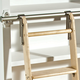 Rockler Classic Rolling Library Ladder - Satin Nickel Finish