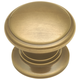 Belwith Power and Beauty Antique Brass 1-1/4'' Classic Knob, K144