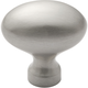 Belwith Power and Beauty Satin Nickel 1-1/2'' Oval Knob, P9176-15
