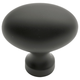 Oil Rubbed Bronze Power and Beauty Oval Knob, 1-1/2''