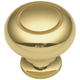 Belwith Power and Beauty Brass 1-1/4'' Traditional Knob, K19