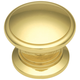Polished Brass Power and Beauty Classic Knob, 1-1/4''