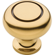 Belwith Power and Beauty Antique Brass 1-1/4'' Traditional Knob, K119