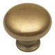 Belwith Power and Beauty Antique Brass 1-1/4'' Knob, BK13-07