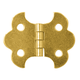 Brass-Plated Butterfly Small-Box Fastener Hinge 1 1/4