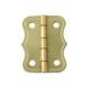 Brass-Plated Large Decorative Small-Box Fastener Hinge 1