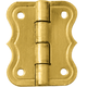 Brass-Plated Small Decorative Butterfly Small-Box Hinge 3/4